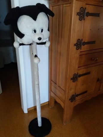 Cabide de criança  tipo peluche em branco e preto