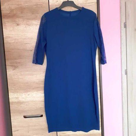 Suknia ciemno niebieska Nowa