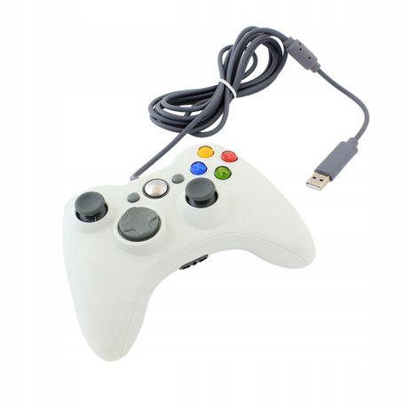 Pad PC XBOX 360 przewodowy kontroler USB biały Video-Play