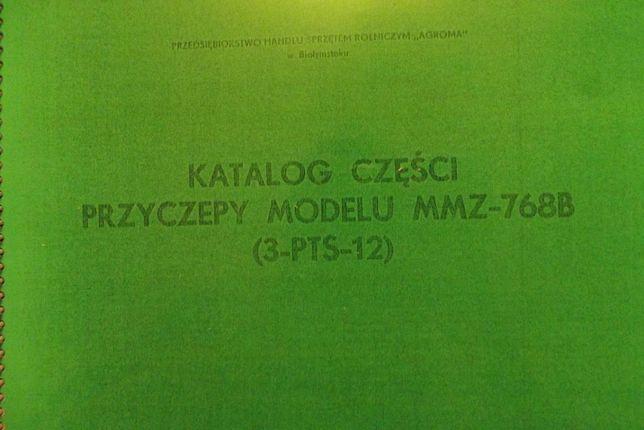 Katalog przyczepy rolniczej MMZ - 768B (3-PTS-12).