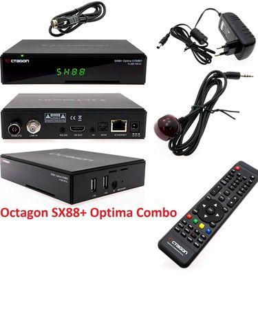 Octagon SX88+ Optima Combo Satélite Box Receptor  NOVO