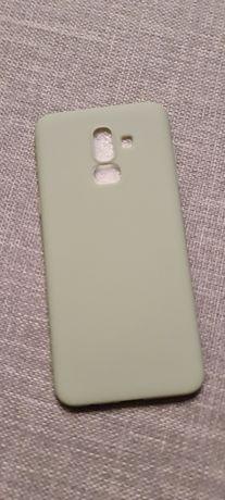 Capa de silicone para Samsung A6 Plus 2018 verde água