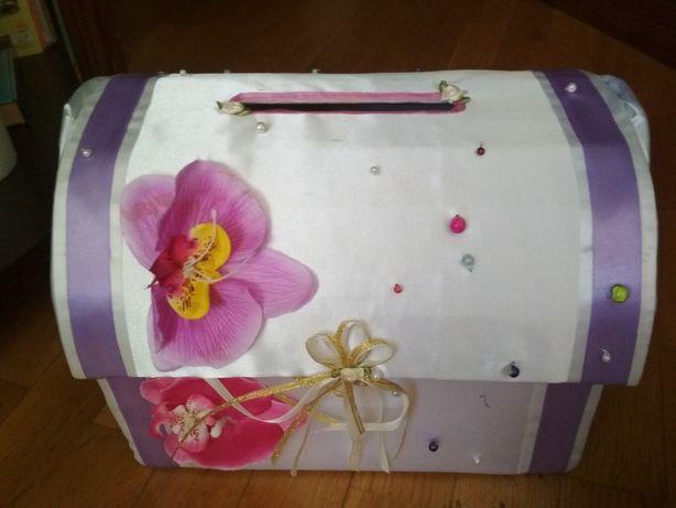 Сундук для конвертов на свадьбу (коробка на свадьбу)