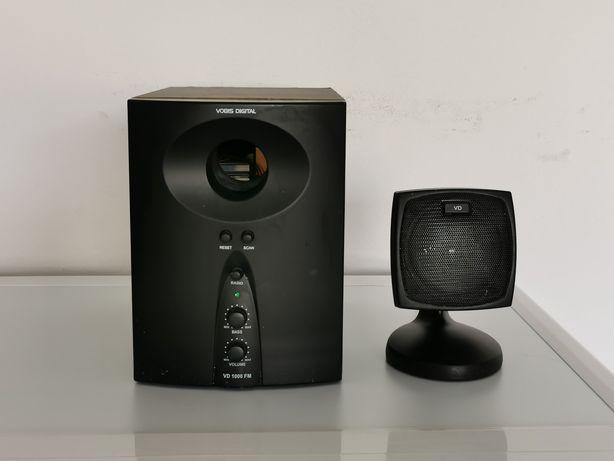 Głośniki komputerowe, kino VOBIS Digital VD 1000 FM subwoofer aktywny