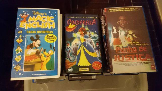 Filmes originais em cassetes VHS