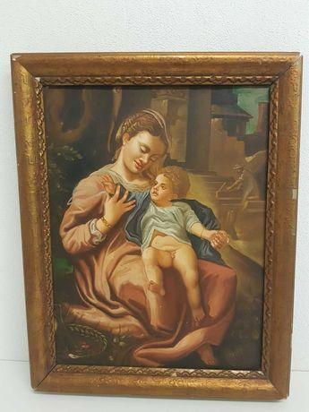 Quadro pintado , oleo sobre tela - Arte Sacra