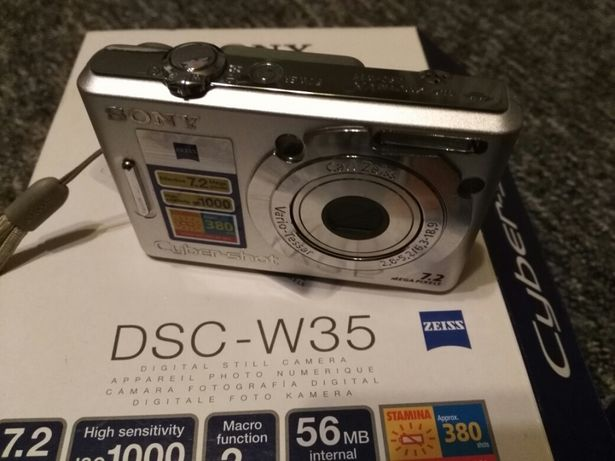 Aparat Sony Cyber-shot DSC w35 komplet fabryczny, stan bdb.