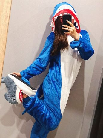 Кигуруми пижама для детей единорог, стич, лиса, хаски, акула