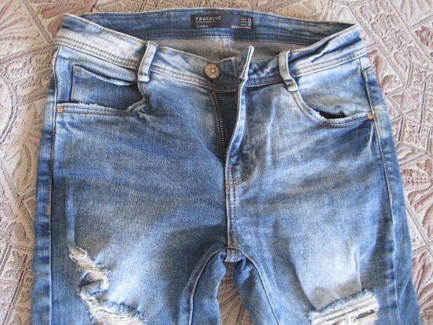 Фирменные рваные джинсы унисекс р.140-146