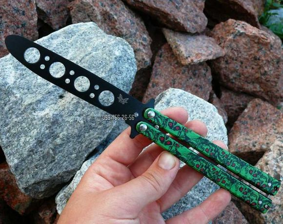 Нож бабочка для трюков флиппинга тренировочный балисонг раскладной №1