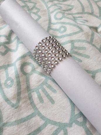 Pierścienie na serwetki  - srebrne