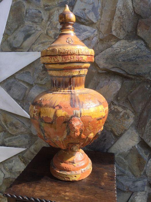 Talha de Água Séc XIX Caldas da Rainha 72 cm Cabeça Anjo Vila Nova de Milfontes - imagem 1
