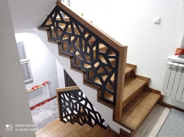 Schody barierki balustrady nowoczesne wzory pomiar projekt panele ażur