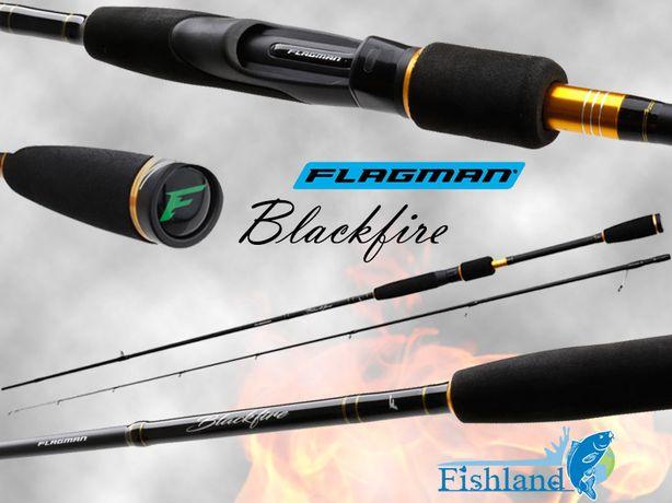 ЦЕНА/КАЧЕСТВО! Спиннинг Flagman BlackFire 2.13м 2.21м 2.28м 2.44м.