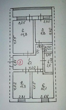 Продається 3 кімнатна квартира пгт Бильмак (Куйбышево) Запорожская обл