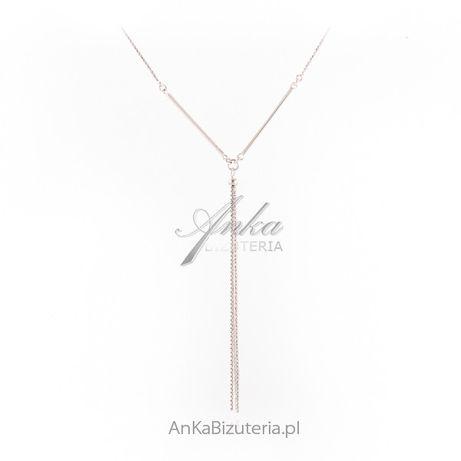 ankabizuteria.pl Srebrny naszyjnik - elegancki krawat