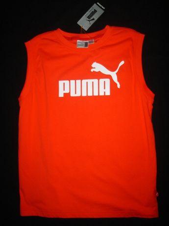 T-shirt Puma vermelha sem mangas original