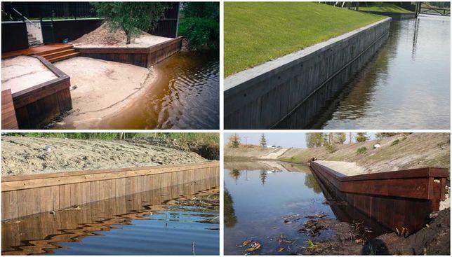 Укрепление берегов рек, каналов, озер.