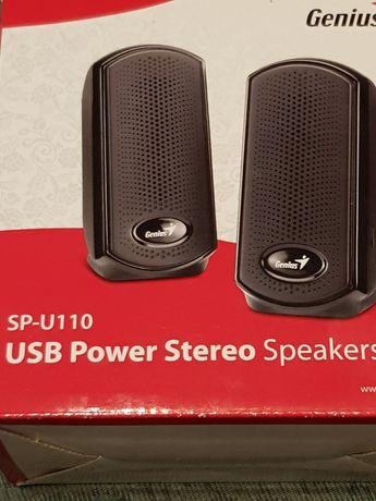 Sprzedam głośniki komputerowe/laptop  stereo Genius  zasilane USB