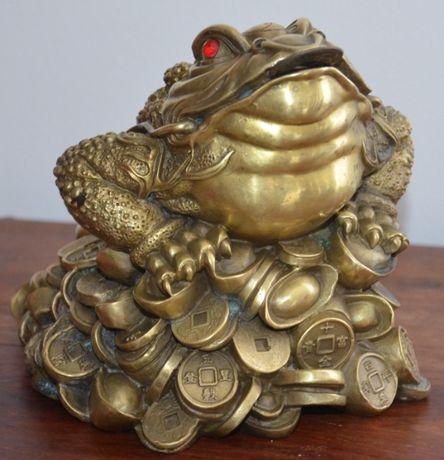 Sapo Feng-Shui em metal pesado