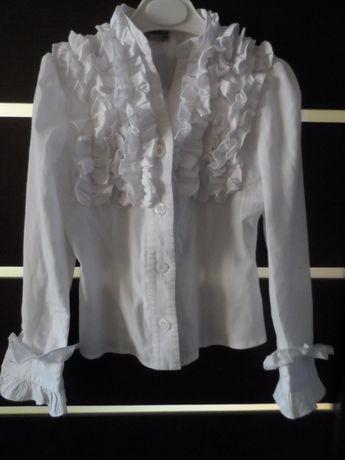 Блуза, блузка с жабо на рост 122см. Фирмы Зиронька.