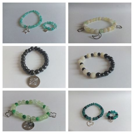 Amulety bransoletki z kamieni naturalnych