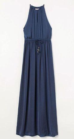 Szykowna sukienka z satyny H&M 34/XS