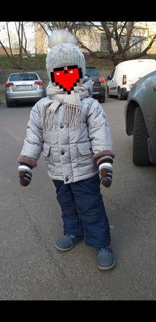 Gap геп куртка+комбинезон в отличном состоянии носили от 2 до 3 лет