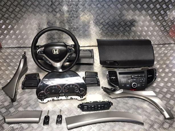 Хонда Акорд 8 Honda Accord 8 Приборка Магнітола Кнопки AIRBAG Ключ