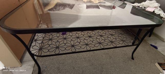 Rezerwacja ! Ława Ikea metalowa, szklany blat