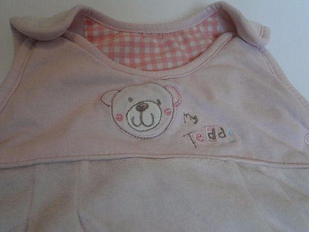 śpiwór różowy dla dziewczynki 6- 12 miesięcy różowy