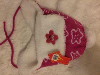 Czapka dla dziewczynki na zimę nowa z metką