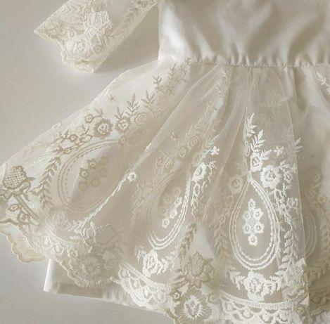 Платье крестильное нарядное