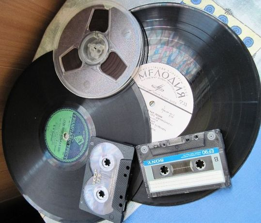 Оцифровка грампластинок, магнитных лент и видеокассет VHS
