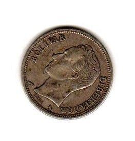 Moeda 1 Bolivar 1960 PRATA
