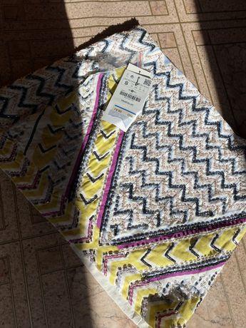 Юбка нарядная вышитая бисером Zara