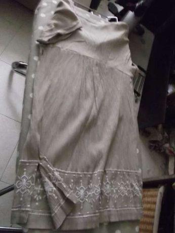 La Redoute - Elegante vestido de cor creme com bordados