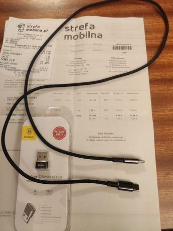 Kabel Baseus Type-C - Type-C 100W 5A + adapter USB