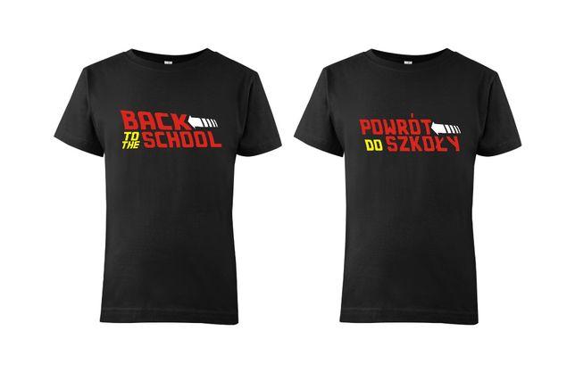 Koszulka dziecięca Powrót do szkoły 100% bawełna