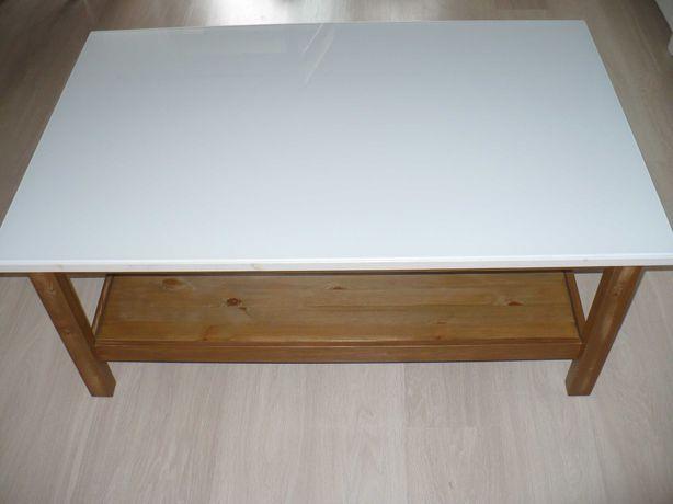 Stół stolik kawowy drewniany blat biały