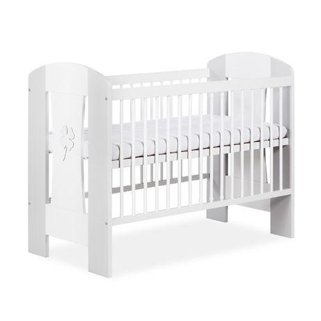 Nowe łóżeczko drewniane firmy Klupś białe,szare,orzech,z szufladą