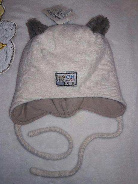 Зимняя шапочка, шапка с ушками Мишка