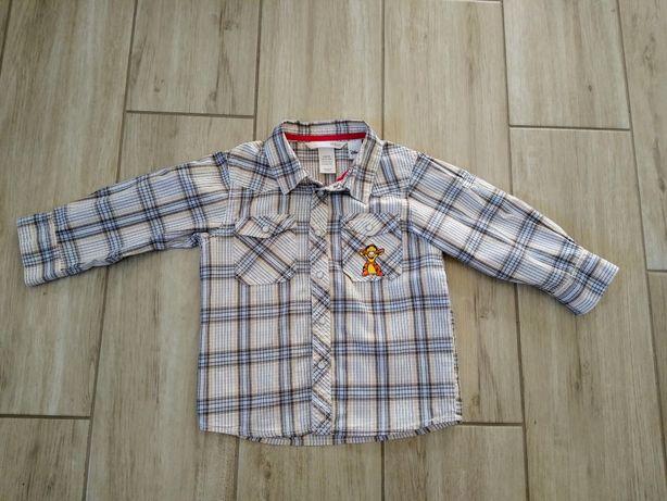 !Wysyłka 1 zł! Koszula chłopięca h&m Tygrys, Kubuś Puchatek rozm.86