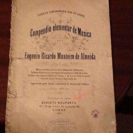 1881 - Compendio Elementar de Musica - Eugenio Ricardo Monteiro Almeid