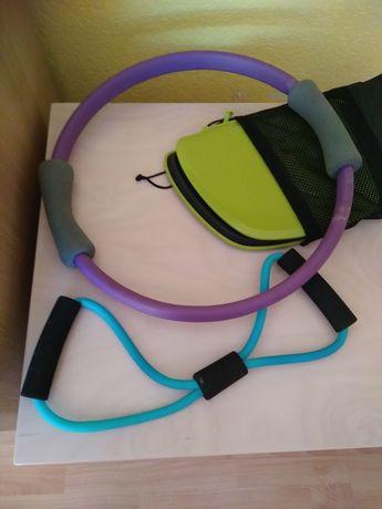 Akcesori do ćwiczeń ekspander gumowy obręcz koło ślizgi dyski