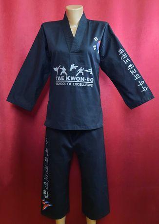 Кимоно черное с иероглифами