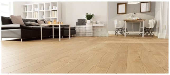 Deska podłogowa DĘBOWA- efekt surowego drewna