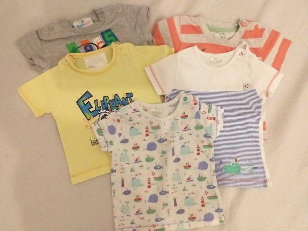 Koszulki krótki rękaw 0-3 miesiące