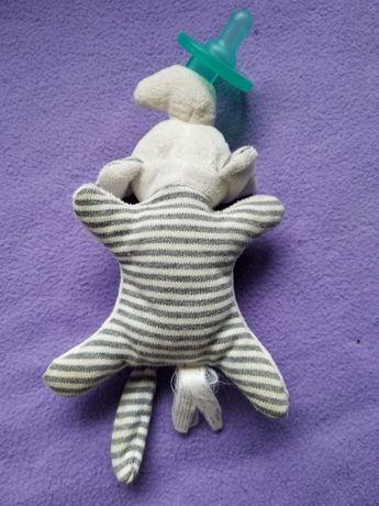Соска-пустышка с игрушкой держателем WubbaNab