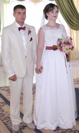 Свадебное белое платье.